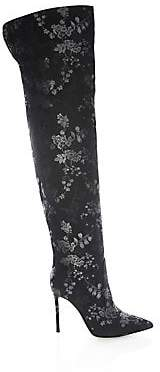 Gianvito Rossi Women's Floral Print Over-The-Knee Boots