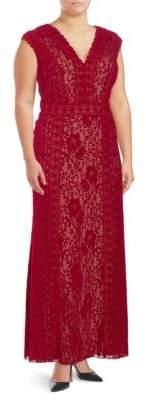 Tadashi Shoji Lace Floor-Length Dress