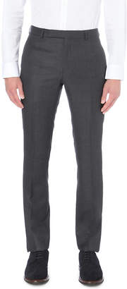Gieves & Hawkes Birdseye-pattern slim-fit tapered wool trousers
