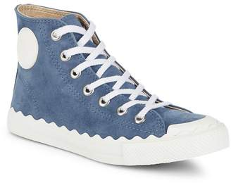 Chloé Women's Suede Round Toe Sneakers