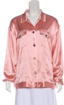 7e58c6dba5c9b1 Fleur Du Mal Silk Button-Up Blouse