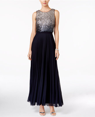 Betsy & Adam Ombré Sequined Popover Gown $279 thestylecure.com