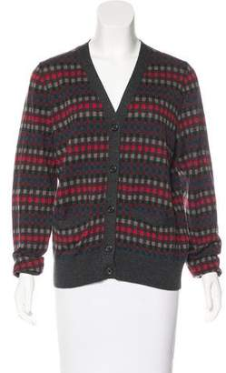 Marc Jacobs Checkered Wool Cardigan