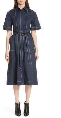 Burberry Carmen Belted Shirtdress