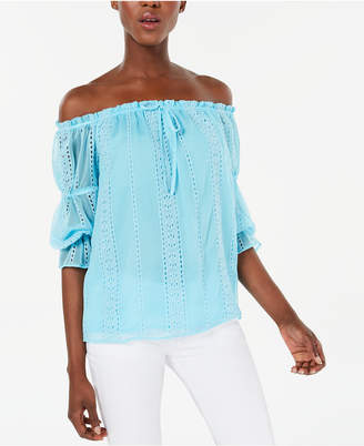 INC International Concepts I.n.c. Ruffled Off-The-Shoulder Blouse
