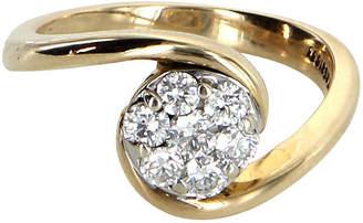 One Kings Lane Vintage Diamond Flower Cluster Ring - Precious & Rare Pieces