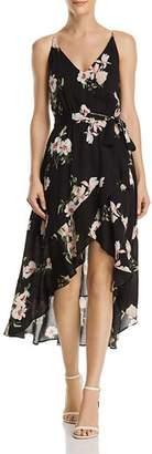 Aqua Floral Print Gauze High/Low Dress - 100% Exclusive