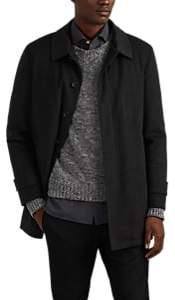 Isaia Men's San Gennaro Cashmere Coat - Charcoal