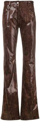 MSGM snakeskin effect trousers