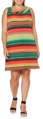 Rafaella Plus Reversible Printed Shift Dress