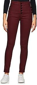 J Brand Women's Natasha Coat High-Rise Skinny Jeans - Wine