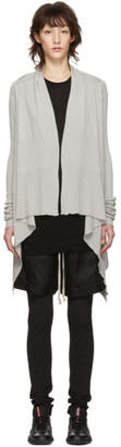 Rick Owens Beige Medium Wrap Cardigan