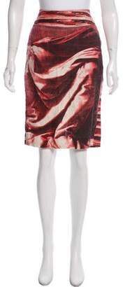 Isabel de Pedro Abstract Print Straight Skirt
