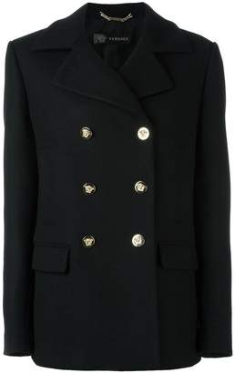 Versace double breasted peacoat