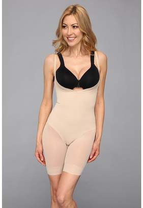 Miraclesuit Shapewear Extra Firm Sheer Shaping Open Bust Mid-Thigh Slimmer Women's Underwear
