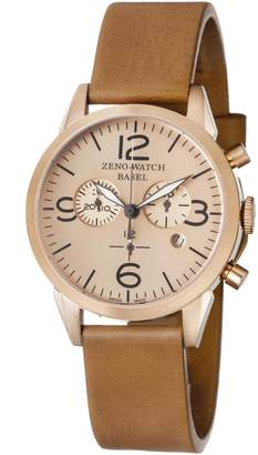 Zeno Men's 4773Q-PRG-A6-1 Vintage Line Analog Display Swiss Quartz Brown Watch