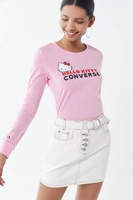Converse X Hello Kitty Logo Long Sleeve Tee