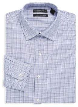 Cotton Check Dress Shirt