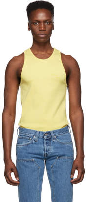 Helmut Lang Yellow Stacked Tank Top