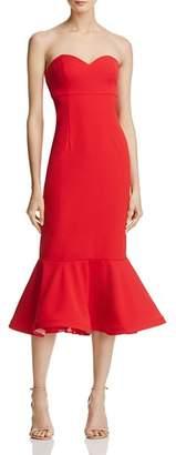 Aqua Ruffle-Hem Crepe Bustier Dress - 100% Exclusive