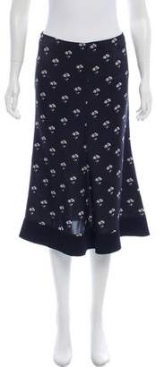 Victoria Beckham Floral Print Flared Skirt w/ Tags