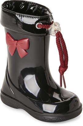 Igor Toddler/Kids Girls) Black Pipo Lazo Bow Rain Boots