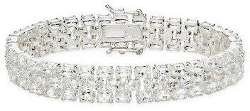 30 1/3 Carat White Topaz Sterling Silver Bracelet
