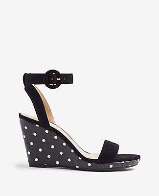 Ann Taylor Amma Polka Dot Wedge Sandals