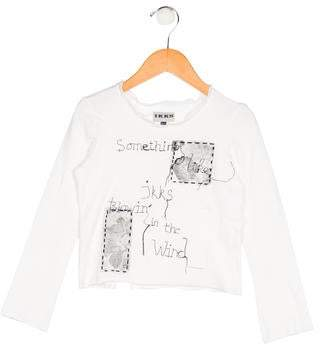 Ikks Girls' Embroidered Knit Top