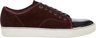 Lanvin Men's Patent-Cap-Toe Sneakers - Dark Red