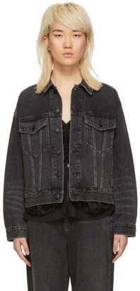 Alexander Wang Grey Denim Mesh Game Jacket