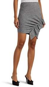 IRO Women's Toman Ruffle Wool Miniskirt - Gray Size S