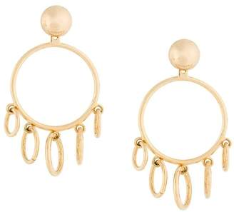 Eshvi jump ring hoop earrings