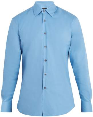 Prada Single-cuff stretch cotton-blend poplin shirt
