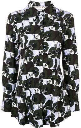 Marni colour-block long sleeve shirt