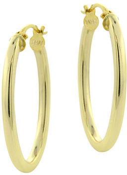 Lord & Taylor 18Kt Gold Large Hoop Earrings $50 thestylecure.com