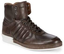 Bruno Magli Padded Leather High-Top Sneakers