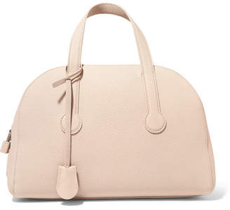 The Row Sporty Bowler 13 Textured-leather Tote - Beige