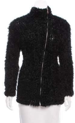 IRO Shearling Zip-Up Jacket