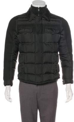 Moncler Blais Wool-Trimmed Utility Down Jacket