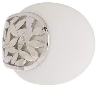 Breuning Sterling Silver Floral Corian Ring