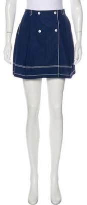 MAISON KITSUNÉ Embroidered Mini Skirt