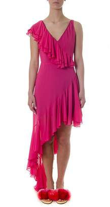 Leitmotiv Fuxia Ruffled & Folded Dress