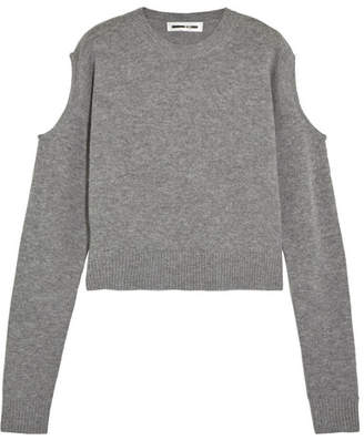 McQ Alexander McQueen - Cutout Wool And Cashmere-blend Sweater - Gray $315 thestylecure.com