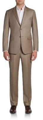 Saks Fifth Avenue BLACK Slim-Fit Sharkskin Wool Suit