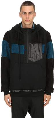 Facetasm Hooded Jersey Zip Teddy Jacket