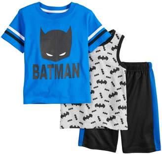 Toddler Boy Batman 3 Piece Tee, Tank Top & Shorts Set