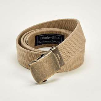 Blade + Blue Khaki Cotton Web Military Belt