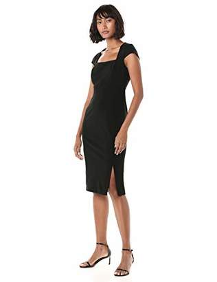 Calvin Klein Women's Square Neck Sheath with Cap Sleeve Dress