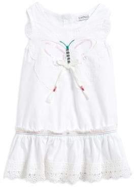 Flapdoodles Little Girl's Butterfly Cotton Dress